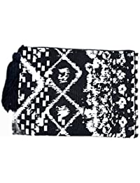 Diwaah Beautifully Handcrafted Casual Cotton Black Color Rug Zip Top With Zip (DWH000000817)