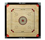 #7: SKY Full size(Large) Cut Pocket Carrom Board with COINS, STRIKER & CARROM POWDER