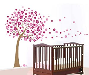 WallStickersUSA Wall Sticker Decal, Pink Cherry Blossom Tree, X-Large by WallStickersUSA