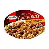Hormel Compleats Swedish Meatballs with Pasta in Cream Sauce, 10-Ounce Microwavable Bowls (Pack of 6) ~ Hormel