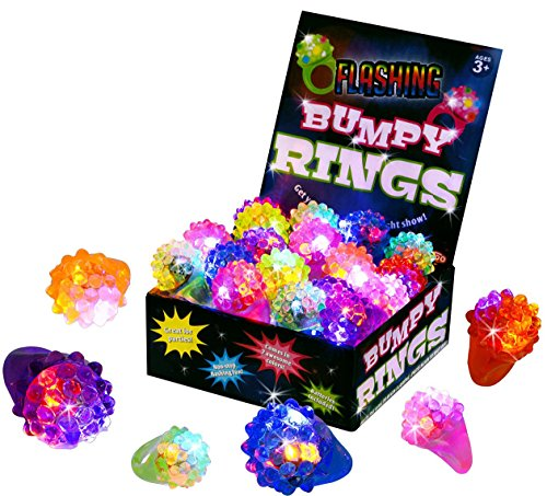 Kangaroo's Flashing LED Light Up Toys, Bumpy Rings, 18-Pack (Party Favors For Kids compare prices)