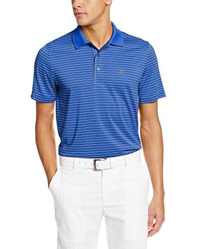IZOD Men's Short Sleeve Poly Feeder Jersey Golf Polo