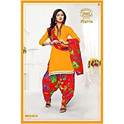 Vivel Women's Unstitched Cotton dress material (SS_17 Pack of 3_Large)