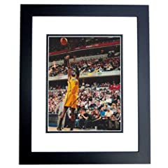 Roy Hibbert Autographed  Hand Signed Indiana Pacers 8x10 Photo - BLACK CUSTOM FRAME
