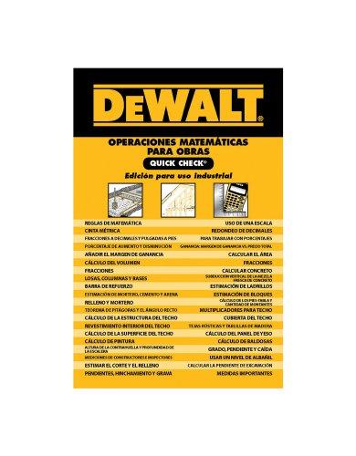DEWALT Operaciones Matematicas Para Obras Quick Check (DEWALT Series) [Chris Prince] (Tapa Blanda)