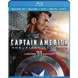 Captain America: The First Avenger (Three-Disc Combo: Blu-ray 3D / Blu-ray / DVD / Digital Copy)