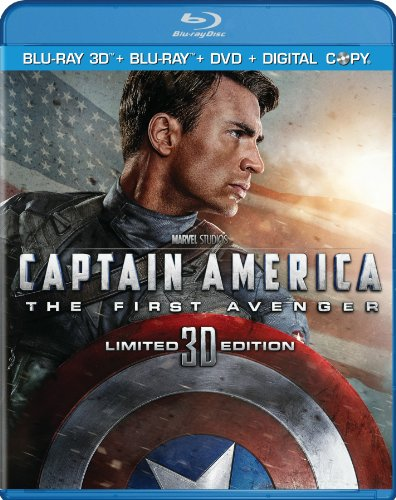 Cover art for  Captain America: The First Avenger (Three-Disc Combo: Blu-ray 3D / Blu-ray / DVD / Digital Copy)