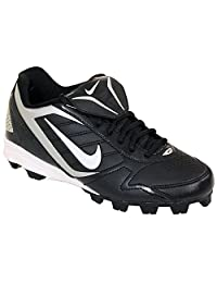 Men's Nike Keystone Low 375760 011 Black White Baseball Cleat