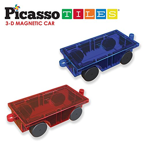 PicassoTiles-2-Piece-Car-Truck-Set-w-Extra-Long-Bed-Re-Enforced-Latch-Magnet-Building-Tile-Magnetic-Blocks-Creativity-Beyond-Imagination-Educational-Inspirational-Conventional-Recreational