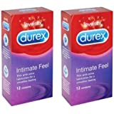 24 Durex Intimate Feel (Elite) Condoms deal, (Retail Box Condom)