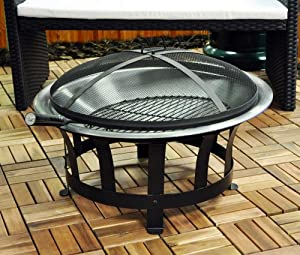 Kingfisher outfire fire pit bbq garden for Amazon prime fire pit