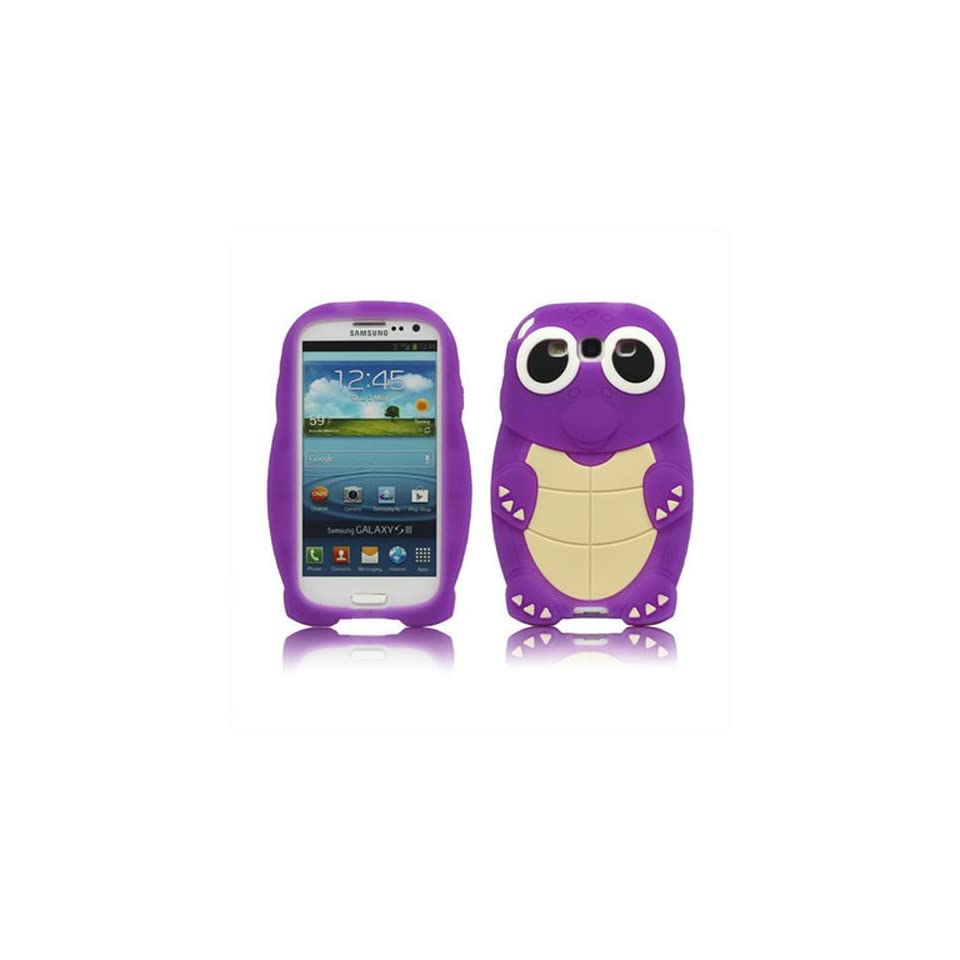 LliVEER New Purple 3d Sea Turtle Blue Silicone Case Cover for Samsung Galaxy S3/iii I9300
