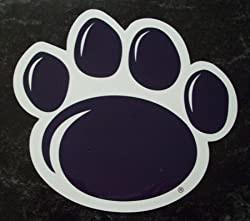 Penn State Nittany Lions Paw Print NCAA Car Magnet