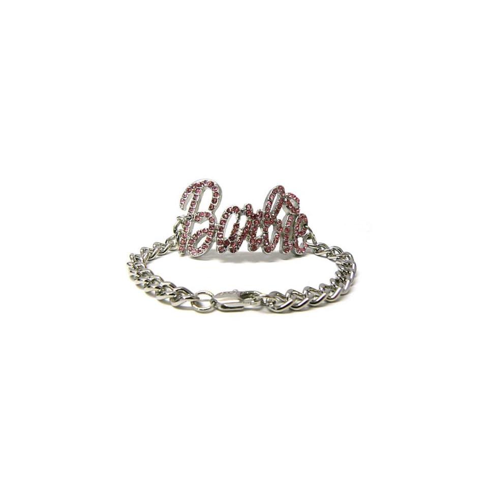 Iced Out NICKI MINAJ BARBIE Kette Armband Silver/Pink