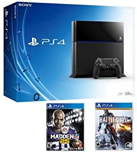 Playstation 4 Bundle with a PS4 Console, Madden NFL 25 & Battlefield 4 PS4