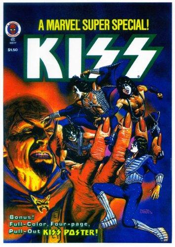 Kiss-Rock Band. Riproduzione poster dimensioni approssimative 29,7x 41,9cm-420mm x 297mm