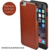 Premium Synthetic Leather iPhone 6 Case (Brown) by Mediabridge - (Part# PC14-I6-BRO )