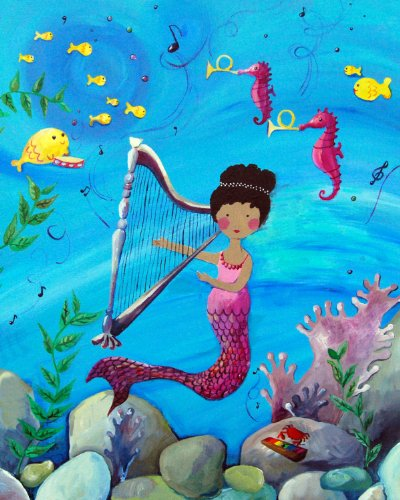 Cici Art Factory Wall Art, Mermaid African American, Small