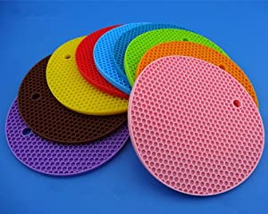 (Super Value Set of 6) Rhumen Quality (RQ) Silicone Trivets Pot Holder Coaster Placemat... by Rhumen