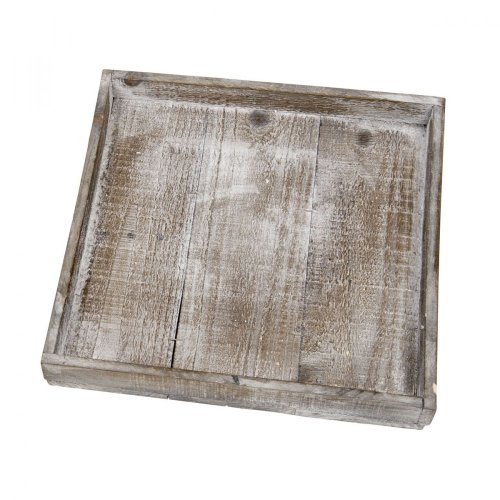 Wooden tray natural 30x30x40cm