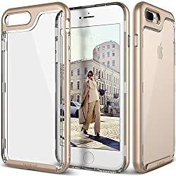 iPhone 7 Plus Case, Caseology [Skyfall Series] Transparent Clear Enhanced Grip [Gold] [Slim Cushion] for iPhone 7 Plus (2016)