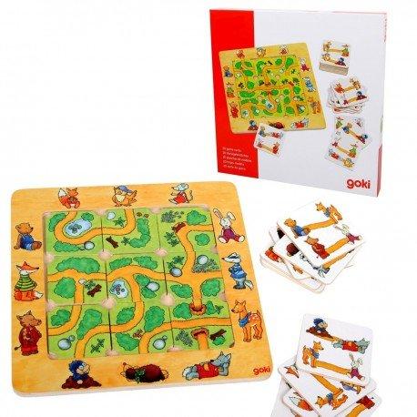 Goki - Jeu de société Trouve le chemin jeu de plateau en bois Goki pour enfants 4 ans +