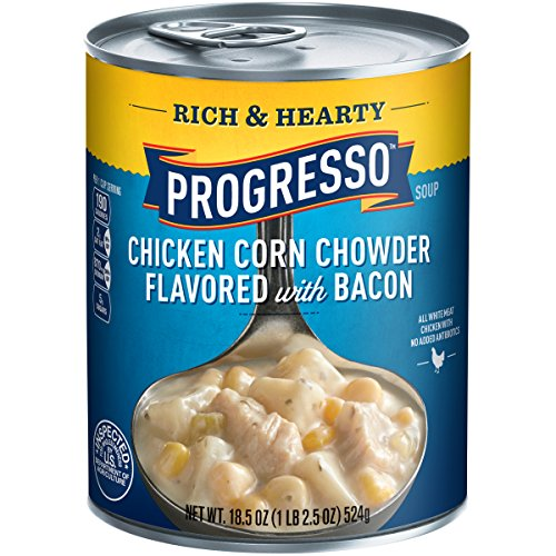 Progresso Rich and Hearty Soup, Chicken Corn Chowder, 18.5-Ounce Cans (Pack of 6) (Progresso Chicken Corn Chowder compare prices)