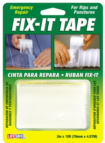 Incom RE638 Ultra Strong Fix It Clear Tape, 3-Inch by 15-Foot