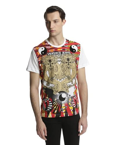 Versace Jeans Men's Logo Short Sleeve Crew Neck Tee Shirt