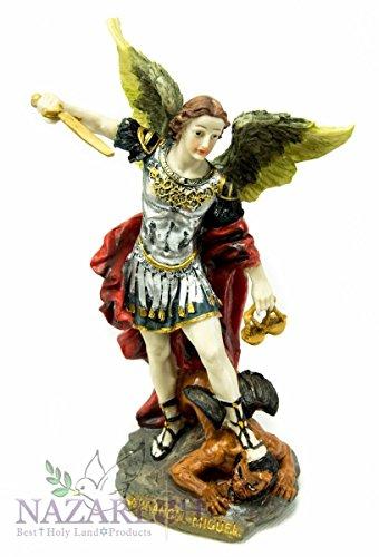 archange-catholique-st-michael-rsine-statue-figurine-la-main-jrusalem-93