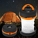 LE® Collapsible LED Camping Lantern, Lightest Flashlight, Dual Purpose, 3 Modes, Battery Powered, Water Resistant, Home, Garden and Camping Lanterns for Hiking, Emergencies, Hurricanes, Outages