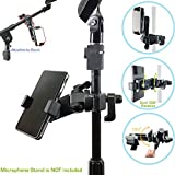 ChargerCity Music Pro Lyric Pole bar Microphone Mic Stand mount for Apple iPhone 7 Plus 6s 6 SE Galaxy S7 Edge LG G5 v20 MOTO X Blu Boom HTC Smartphones (Holder opens up to 3.5