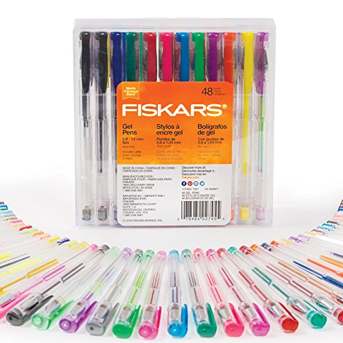 Fiskars Gel Pen Set, 48-piece