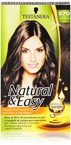 Testanera - Natural & Easy, Colori Trattamento Naturali e Espressivi, 570 Castano Naturale - 1 confezione