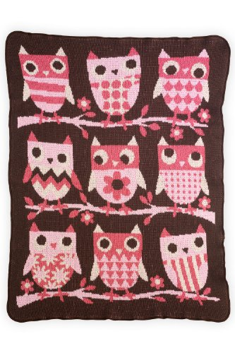 Green 3 Apparel Recycled Usa-Made Owls Throw front-318502