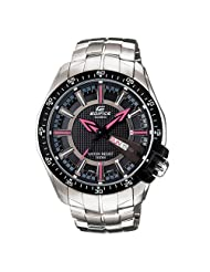 Casio Edifice Analog Black Dial Men's Watch - EF-130D-1A4VDF (ED418)