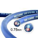 Van Damme Professional Blue Series Studio Grade 2 x 0.75 mm (2 core) Twin-Axial Speaker Cable 268-575-060 12 Metre / 12Mby Van Damme