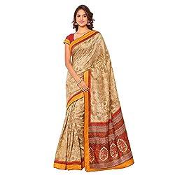 Senorita Fashion Gold Pashmina Silk Printed Saree