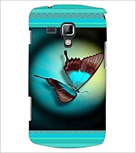 PrintDhaba Butterfly D-6031 Back Case Cover for SAMSUNG GALAXY S DUOS 2 S7582 (Multi-Coloured)