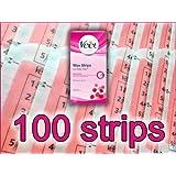 100 STRIPS - Veet Wax Strips with Easy Grip & Shea Butter