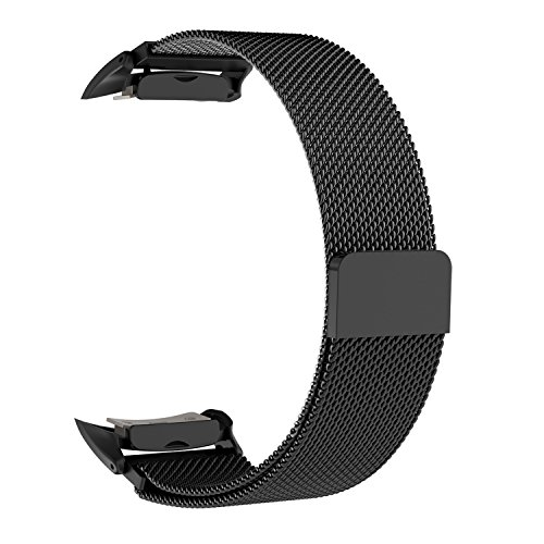 Gear Fit 2 Band, iOrange-E Samsung Milanese Metal Band with Magnetic Closure Stainless Mesh Replacement Band Gear Fit 2 Band Accessories for Men and Women, Black (Gear 2 Metal Band compare prices)