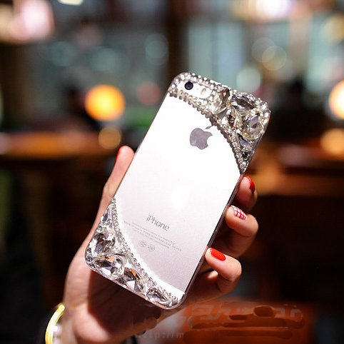 Extreme Deluxe 3D handmade bling Crystal Rhinestone Diamond Clear Anti-Scratch back case cover for iPhone 6 4.7
