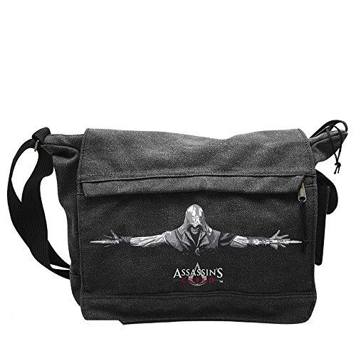 Assassins Creed-Messenger Borsa a tracolla-Ezio-Logo