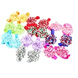 Picture Of ilovebaby Girl's Barefoot Sandals Flower Chiffon Cloth Flower Size 7 cm Suitable For Girls Comfortable Durable Looks Beautiful Set of 10