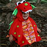Boys Girls Kids Red Dragon Fancy Dress Halloween Costume for Children 18 Months – 3 Years