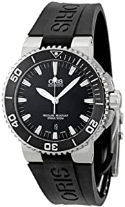 Oris Aquis Date 43 mm Steel/Rubber Mens Watch 733-7653-4154RS