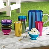 Aluminum Ice Cream Dessert Bowls (Set of 6 Bowls) - Retro Jewel-tone Colors