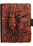 A little Present Embossed Small Scarfed Woman On A Vintage Leather Cover Case for Kindle 4/5/Kindle Paperwhite/Kindle
