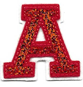 amazoncom letters red sequin 2 letter a iron on With letters to iron on clothing
