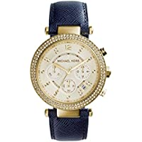Michael Kors MK2280 Parker Blue Leather Womens Watch